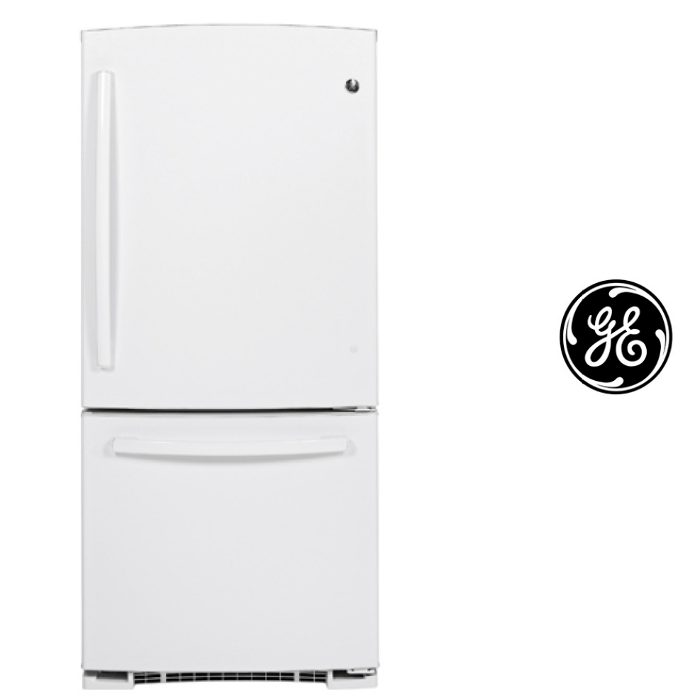 GE Bottom Mount Refrigerator - White