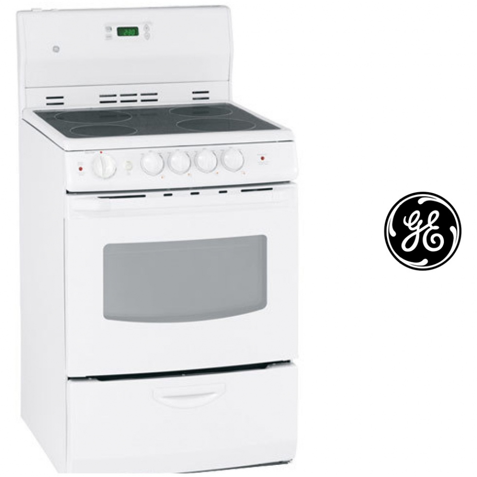 GE Easy Clean Smooth Top Range - White