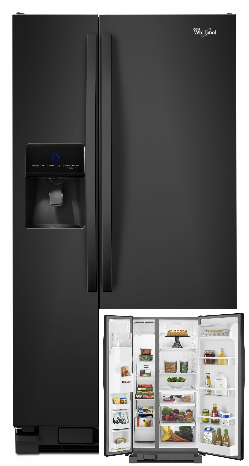 Whirlpool Side-by-Side Refrigerator Black