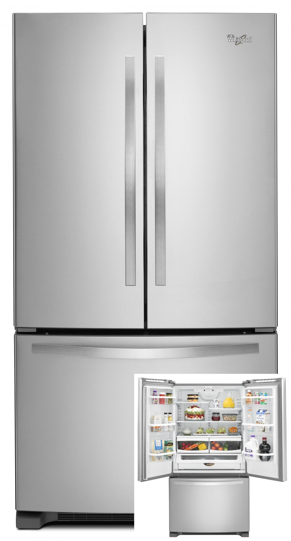 Whirlpool French Door Refrigerator Stainless Steel
