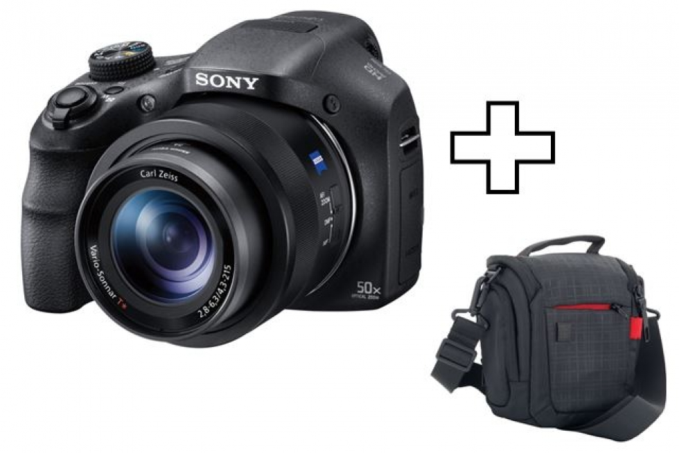 Sony 50x Optical Zoom Compact Camera with Carrying Case- Black