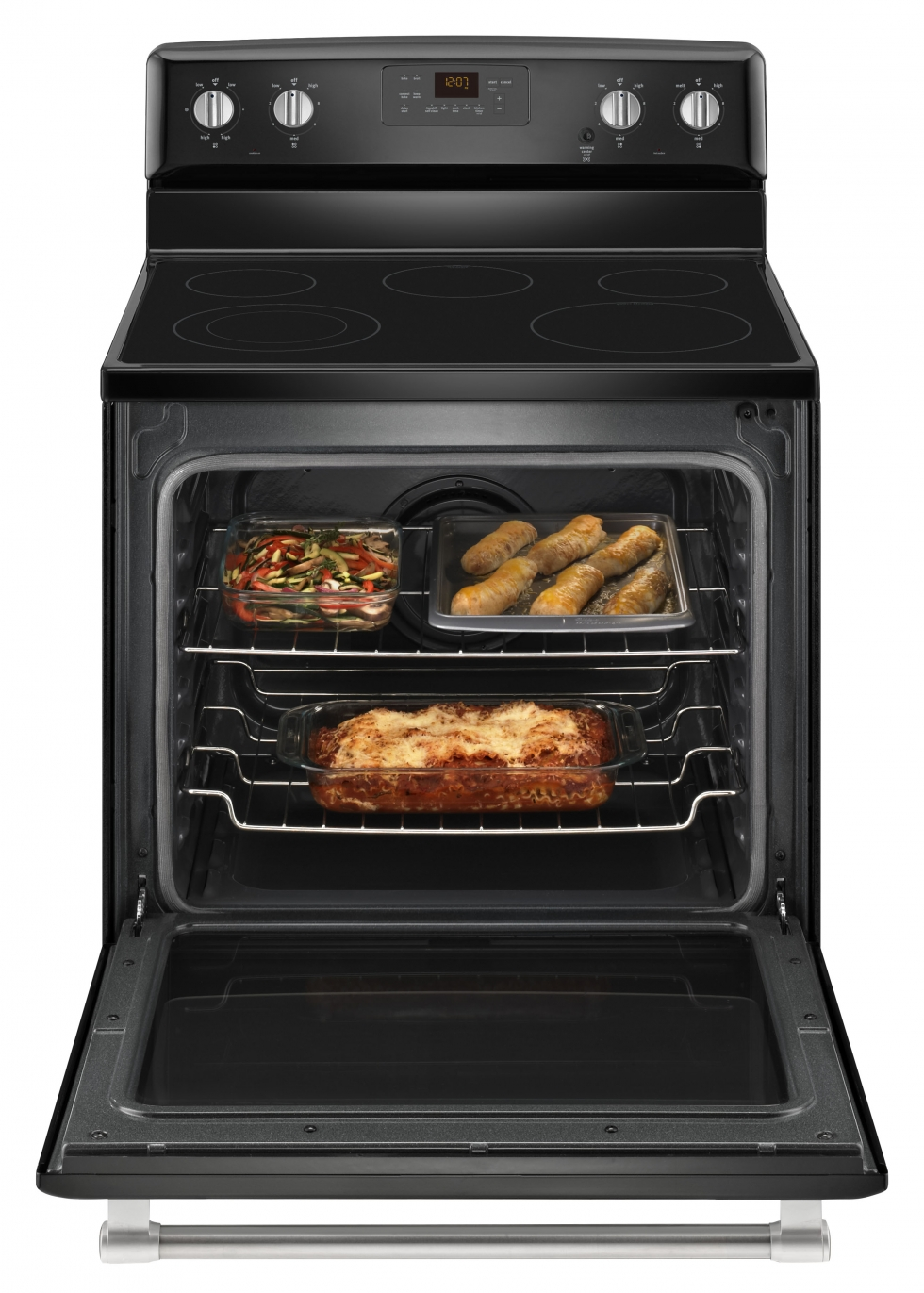 Maytag Electric RANGE WITH CONVECTION OVEN  Black with stainless