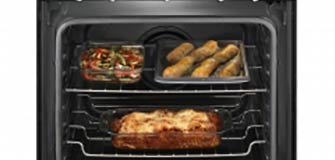 Maytag GAS RANGE WITH CONVECTION OVEN Black with Stainless