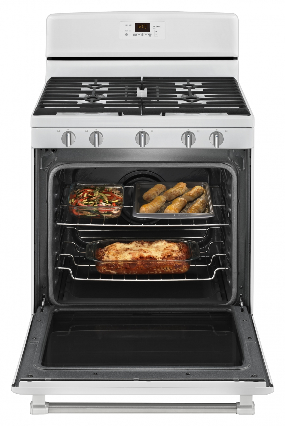 Maytag GAS RANGE WITH CONVECTION OVEN White with Stainless Start ...