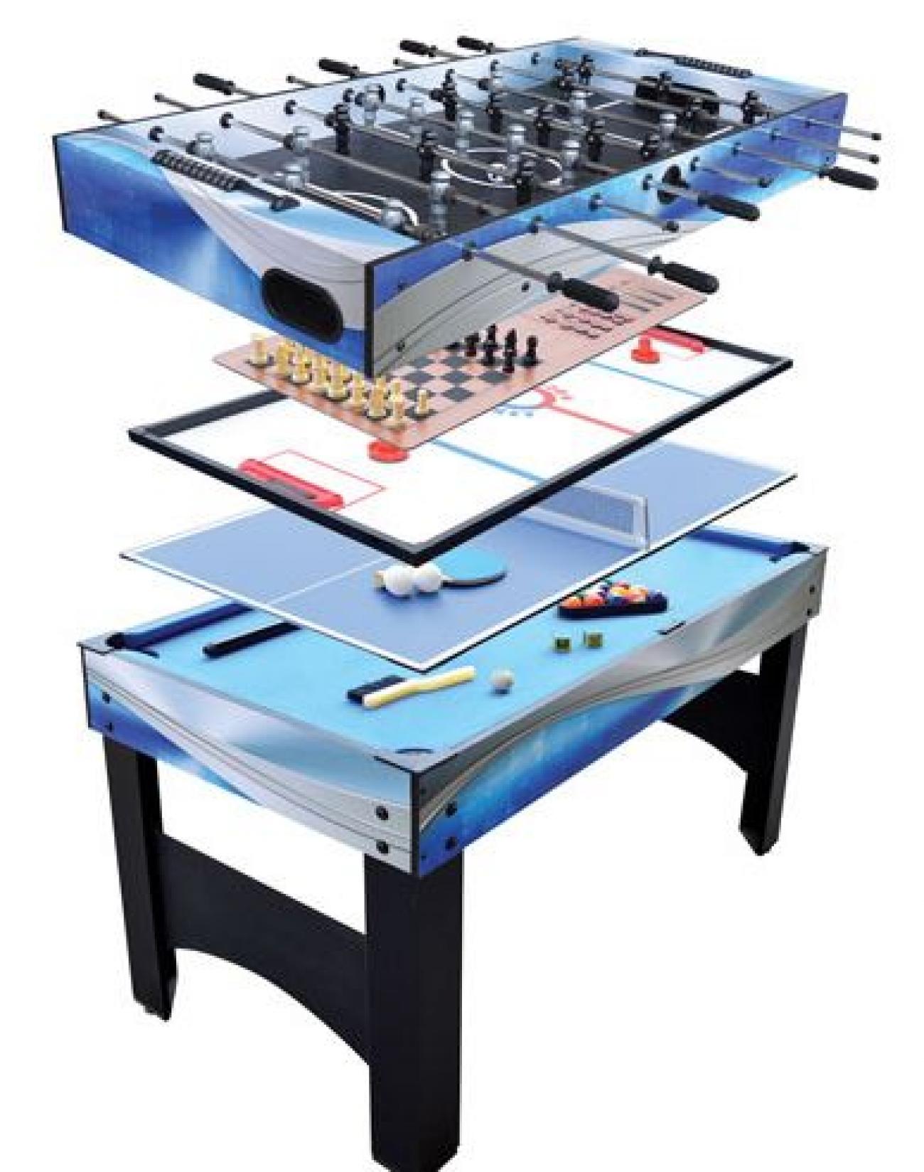 Table de jeux 7 en 1 de 54 po matrix de hathaway start for Table 5 en 1