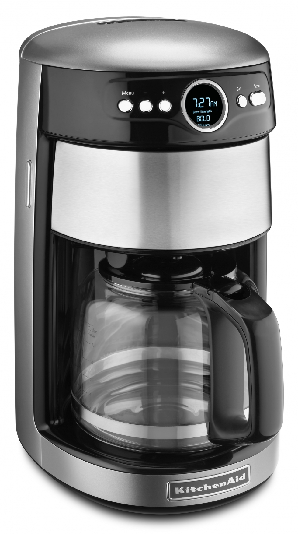 Architect 14-Cup Glass Coffee Maker - Cocoa Silver
