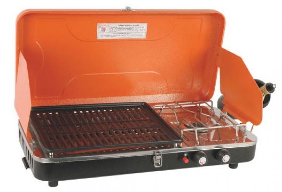 World Famous Propane Camping Stove with Grill - 10,000 BTU