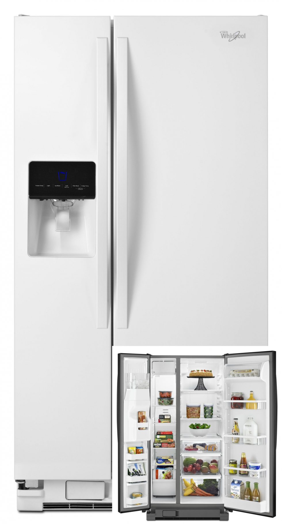 Whirlpool Side-by-Side Refrigerator White
