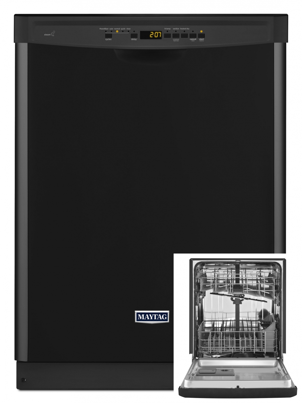 Maytag Stainless Steel Tub Dishwasher Black