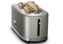 Kitchen Aid Long Slot Toaster - Cocoa Silver