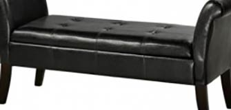 Bench with Storage - Black