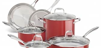 KitchenAid Stainless Steel 10-Piece Set - Empire Red