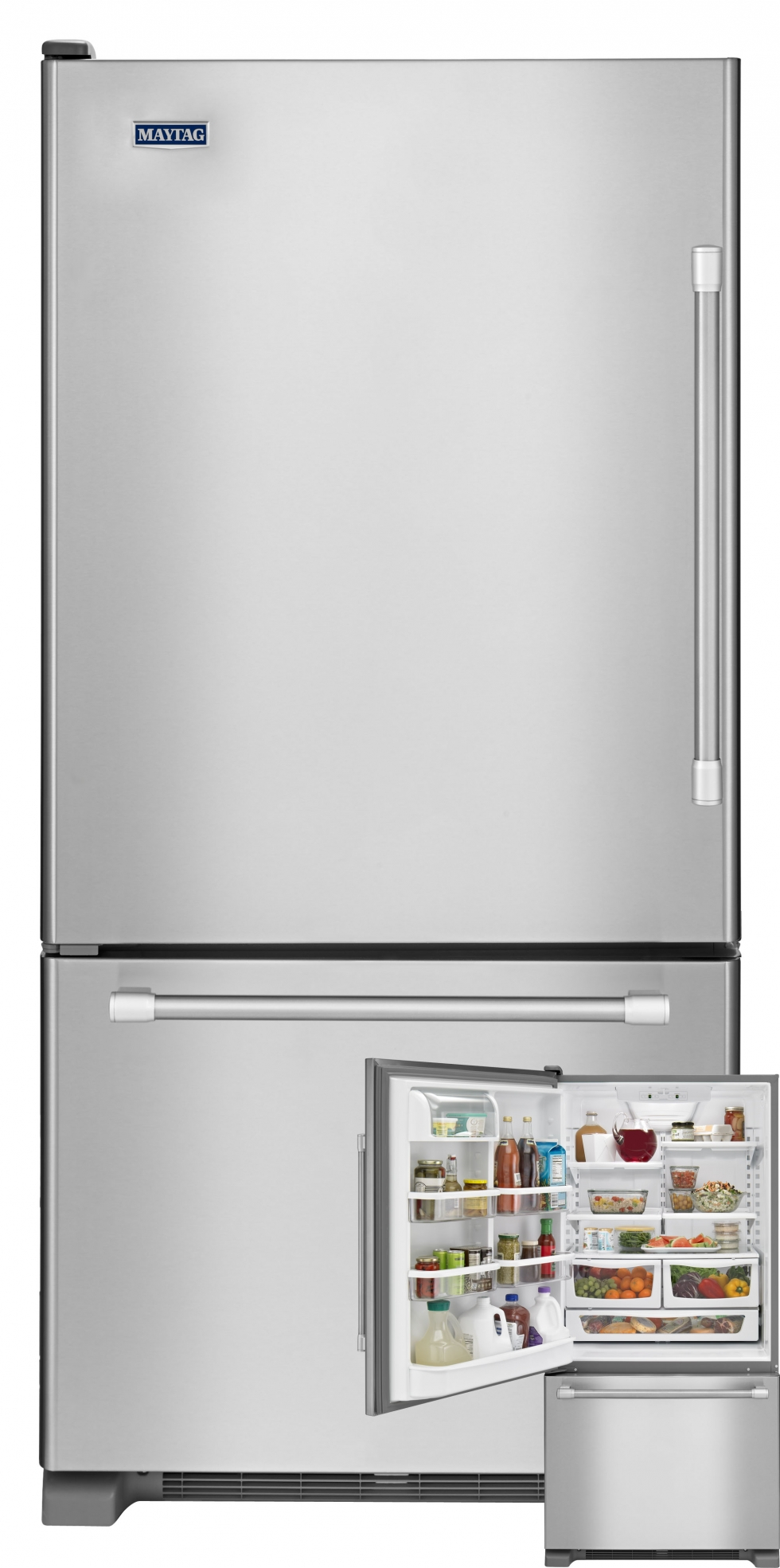 Maytag Bottom Freezer Refrigerator Stainless Steel Start
