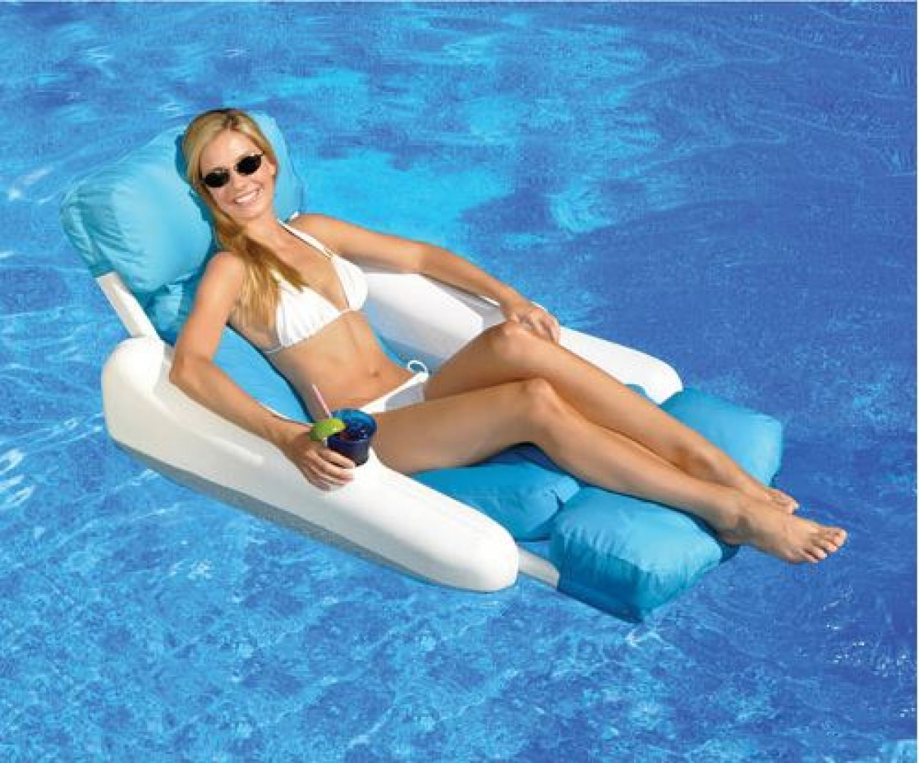 Swimline Sunchaser Luxury Inflatable Pool Lounger Float
